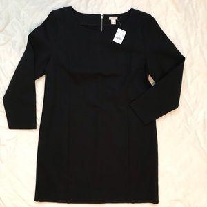NWT J Crew long sleeve black dress